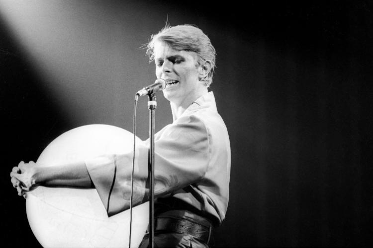 David Bowie, Fresno, CA, 1978. Photo by Larry Hulst